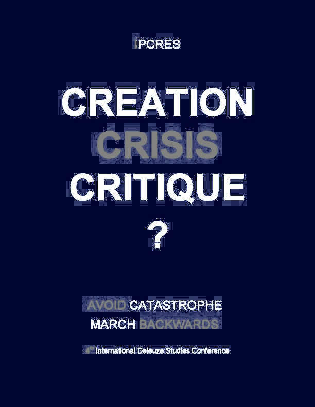 Crisis, Creation,Critique plac copy
