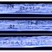 stick montage blue pixels